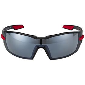 Kask KOO Sonnenbrille inkl. 2 Gläser Smoke und Clear schwarz/rot